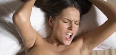 Woman having fantastic sex.